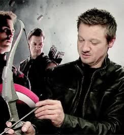 Watch and share Jeremy Renner GIFs and Hawkeye GIFs on Gfycat