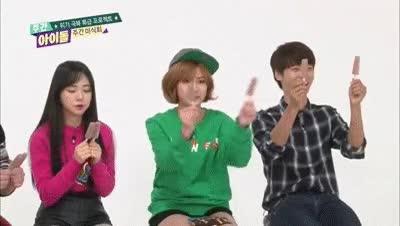Watch and share (Weekly Idol EP.223) Vixx N, AOA Mina, APINK Hayoung  Play Game GIFs on Gfycat