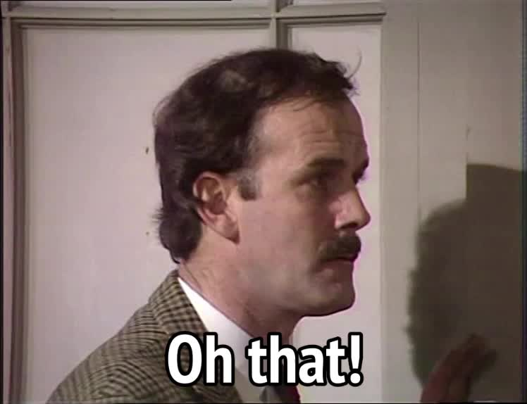 basil fawlty, fawlty towers, john cleese, Fawlty Towers S02E03 - Oh that GIFs