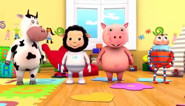 Watch Head Shoulders Knees and Toes | Part 2 | Nursery Rhymes | by LittleBabyBum! GIF on Gfycat. Discover more related GIFs on Gfycat