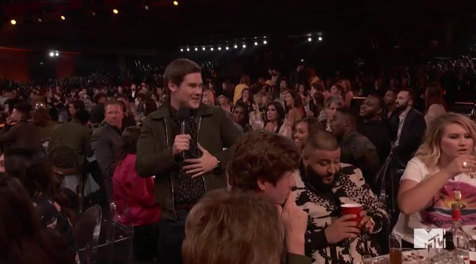 DJ Khaled, MTV Awards, MTVAwards, MTVAwards2017, chug, drink, shot, I'll drink to that GIFs