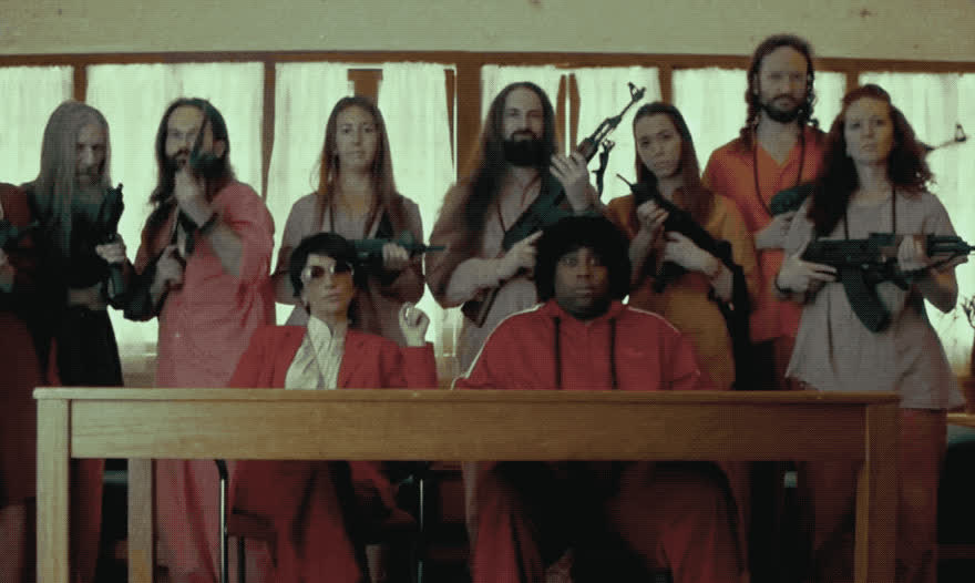 angry, beware, country, deal, fight, gang, guns, it, kill, live, night, ready, saturday, shoot, snl, to, vintage, war, wild, with, SNL - Wild wild country GIFs