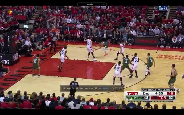 Watch and share Milwaukee Bucks GIFs and Toronto Raptors GIFs by nicktussel on Gfycat