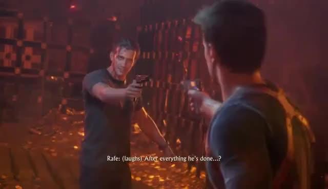 Uncharted 4 Nadine Betrays Rafe Gif Gfycat