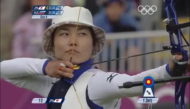 Japan Olympic archery GIFs