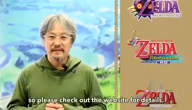 Watch and share Eiji Aonuma Announces The Legend Of Zelda Weeks 2017 Sale! (Nintendo EShop) GIFs on Gfycat