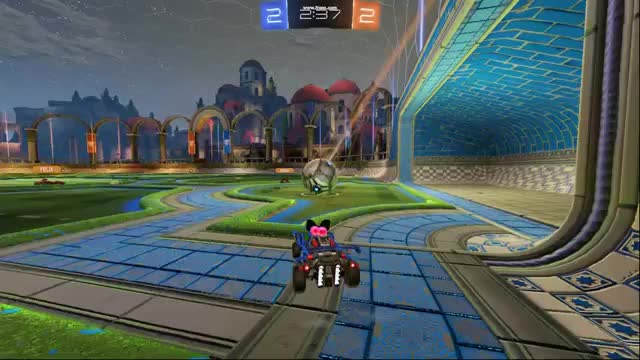 Watch and share Rocket League: Awful Save Turns Pass Play GIFs by colesepher on Gfycat