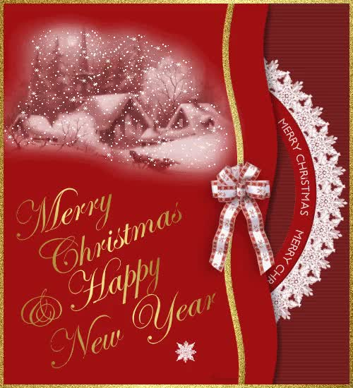 Watch and share Merry Christmas & Happy New Year GIFs on Gfycat