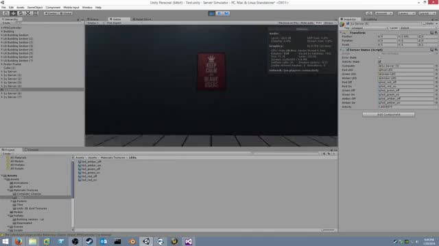 Watch Server Simulator: Activity LED Test GIF on Gfycat. Discover more sysadmin, unity3d GIFs on Gfycat