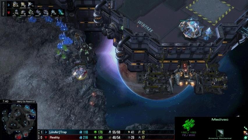GosuMicro, gosumicro, starcraft, Reality's widow mine bait vs Trap (Pughycraft 2 RO32) GIFs