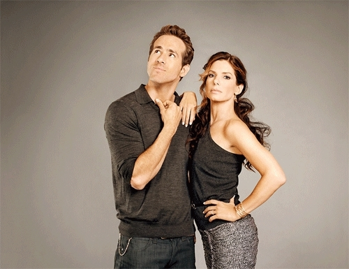 couple, gif, photoshoot, ryan reynolds, sandra bullock, the proposal, Ryan Reynolds and Sandra Bullock in a photoshoot forThe Prop GIFs