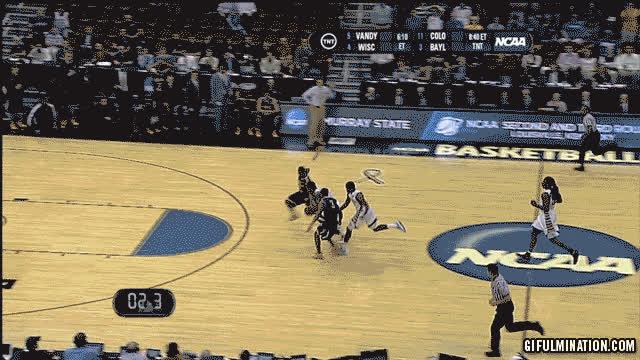 Dribbling no longer required in college basketball GIFs