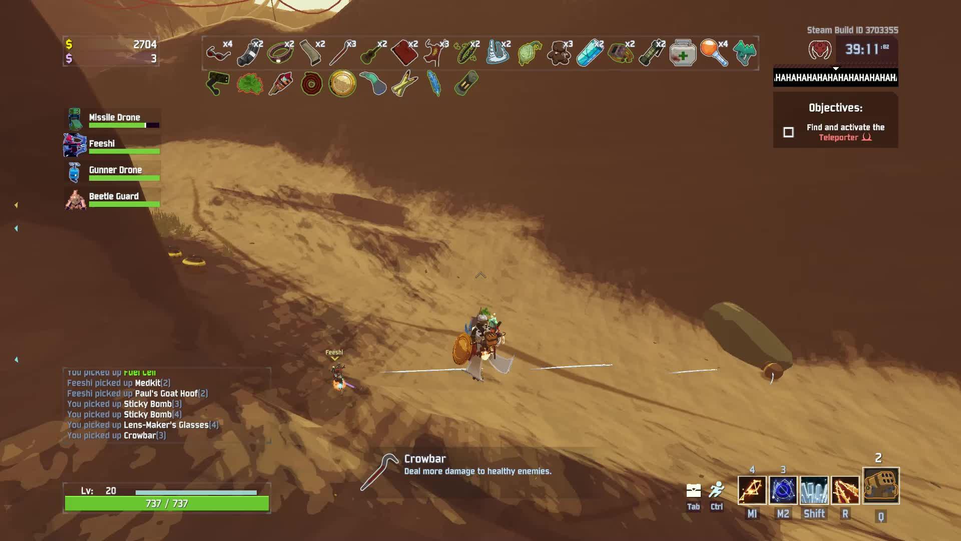 gameplay, huntress, riskofrain, riskofrain2, Feeshi almost killed himself GIFs