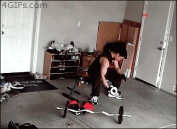 Weightlifting Mouse Prank GIFs