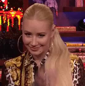Watch Iggy Azalea Flirting GIF on Gfycat. Discover more blush, flirt, flirting, iggy azalea, sannahparker, watch what happens live GIFs on Gfycat