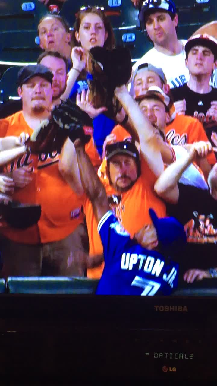 baseballgifs, torontobluejays, Opposite reactions GIFs