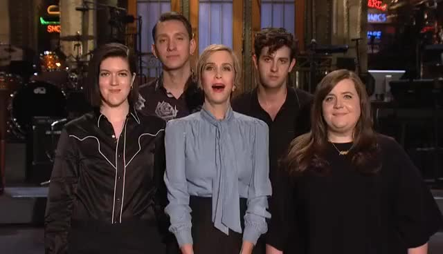 Watch and share SNL Host Kristen Wiig, Aidy Bryant & The Xx Get Funky GIFs on Gfycat
