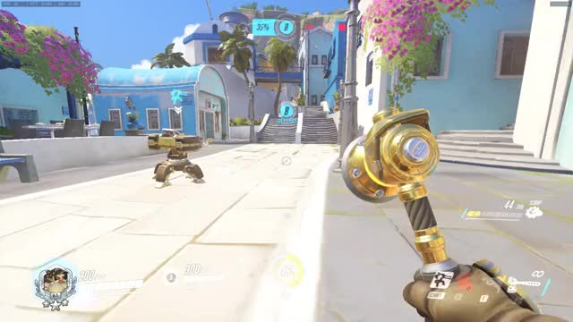 Watch and share Hanzo Ult Doesn't Damage Structures (Torbjorn Turret) GIFs by featherfallen on Gfycat