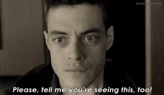 Watch Mr. Robot 1x01 / 1x08 - Breaking the Fourth Wall GIF on Gfycat. Discover more I'd like to know the truth too, Mr Robot, Rami Malek, TV recs, fourth wall, hello there GIFs on Gfycat