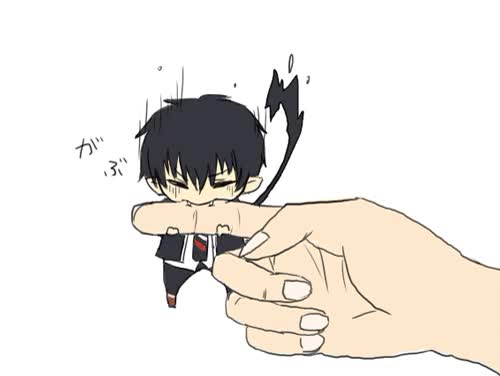 Watch this GIF on Gfycat. Discover more ao no exorcist, blue exorcist, rin okumura GIFs on Gfycat