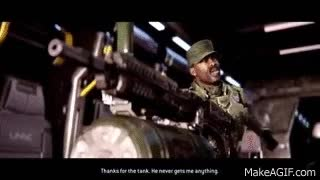 "Watch and share FUNNY Sgt. Johnson (Halo 2 Anniversary) Different Speeches ""Metropolis"" GIFs on Gfycat"