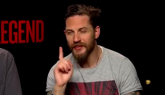 Watch and share Tom Hardy Is Smoking (hot) Gangster (LEGEND) And Trying To Remember His Co-star GIFs on Gfycat