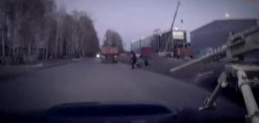 Watch and share Russian Dashcam Footage: Car Almost Hits Pedestrian (reddit) GIFs by jetsparrow on Gfycat