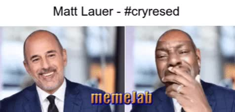 Watch and share Matt Lauer GIFs and Cryresed GIFs by Petty Parker on Gfycat