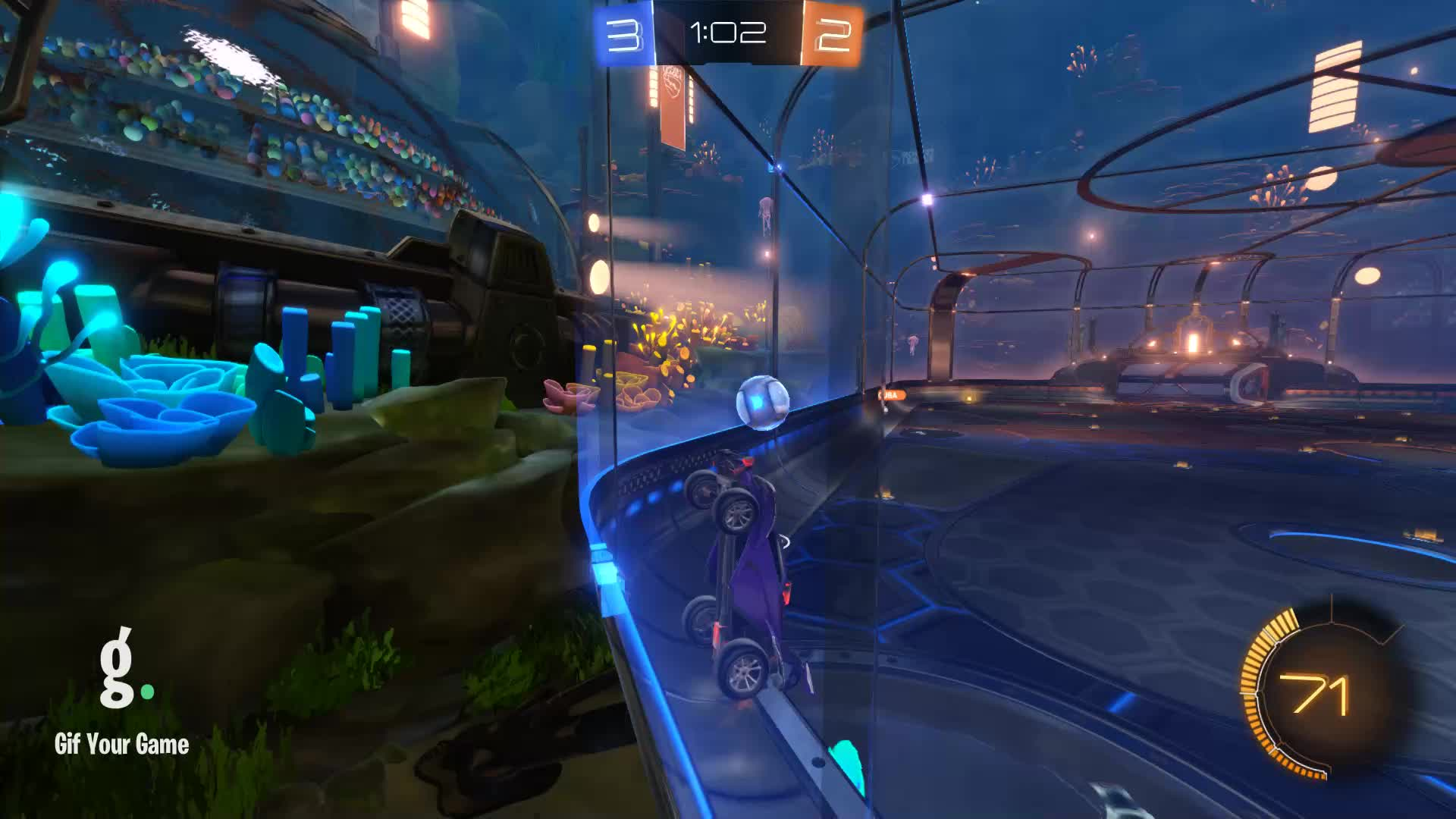Gif Your Game, GifYourGame, MizuOkami, Rocket League, RocketLeague, Shot 11: Scuba GIFs