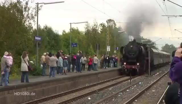 Watch and share Mit Dampf Rund Um Hannover - Dampflok Baureihe BR 52 8038 In Barsinghausen GIFs on Gfycat