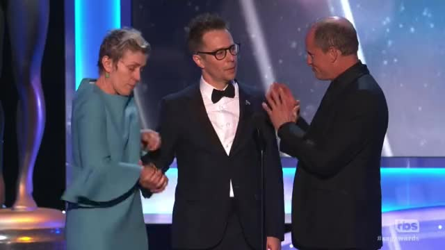 Watch and share Frances Mcdormand GIFs and Sag Awards GIFs by Reactions on Gfycat