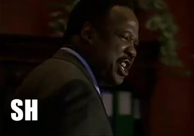 I finally made a solid Clay Davis 'Sheeeeit' gif. Use it in health. : TheWire GIFs