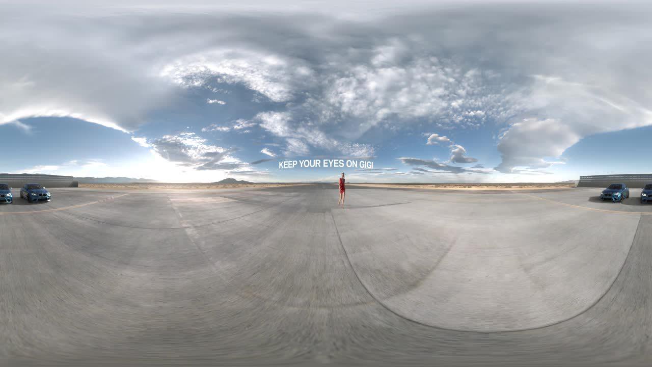 360, 360Loop, The BMW M2 – Eyes on Gigi Hadid (360° Video) GIFs