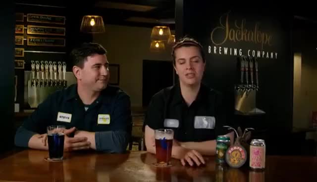 Watch and share Domino Partners With Jackalope Brewing And Toucan Mobile Canning Companies GIFs on Gfycat