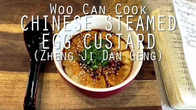 Watch and share Woo Can Cook | Chinese Steamed Egg Custard (Zheng Ji Dan Geng) GIFs by WooCanCook on Gfycat