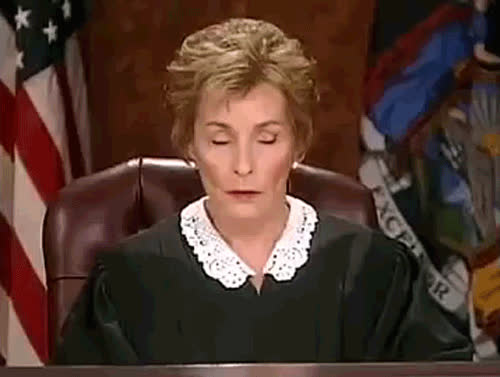 Judge Judy, cranky, irritated, snarky, Snarky GIFs
