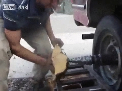 RedneckGifs, redneckgifs, Redneck Wood Splitter (reddit) GIFs