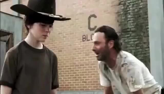 Watch this the walking dead GIF on Gfycat. Discover more carl, dead, funny, rick, sad, shane, the, the walking dead, walking, walking dead GIFs on Gfycat