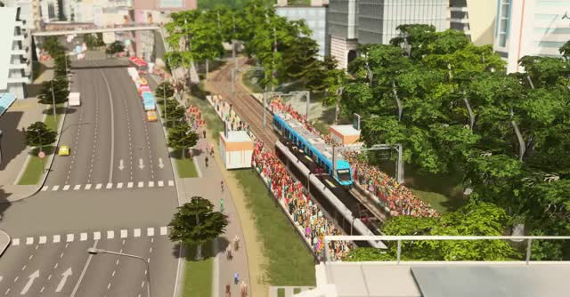 Watch Cities skylines GIF by @thingshappen on Gfycat. Discover more citiesskylines, trams GIFs on Gfycat