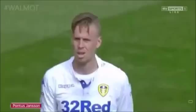 Watch and share Pontus Jansson Best Moments|Leeds United|2016| GIFs on Gfycat