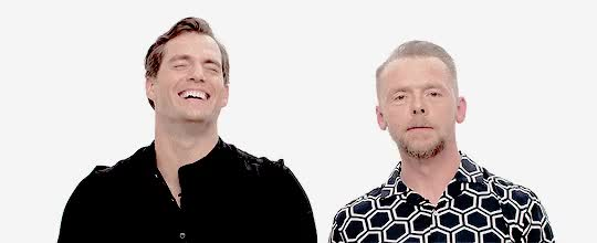 Watch and share Henry Cavill GIFs and Simon Pegg GIFs on Gfycat