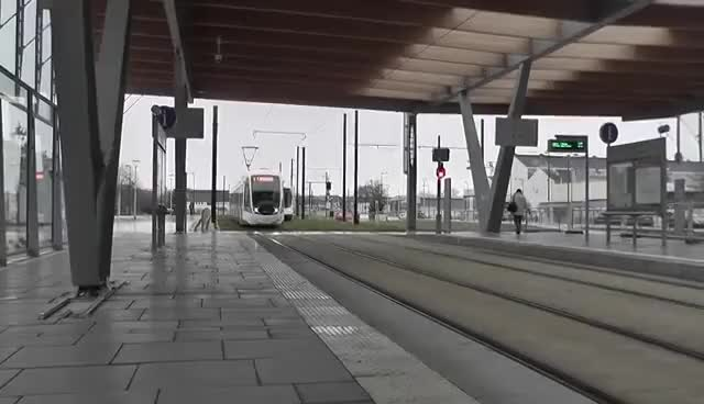 Watch Approaching tram in Nantes GIF on Gfycat. Discover more related GIFs on Gfycat
