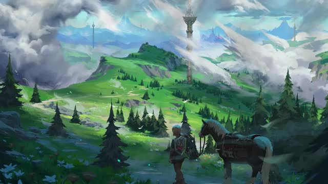 Watch and share Wallpaper Engine - After The Rain (Legend Of Zelda: Breath Of The Wild), Creator LandorftheMage123 GIFs by pcgemma on Gfycat