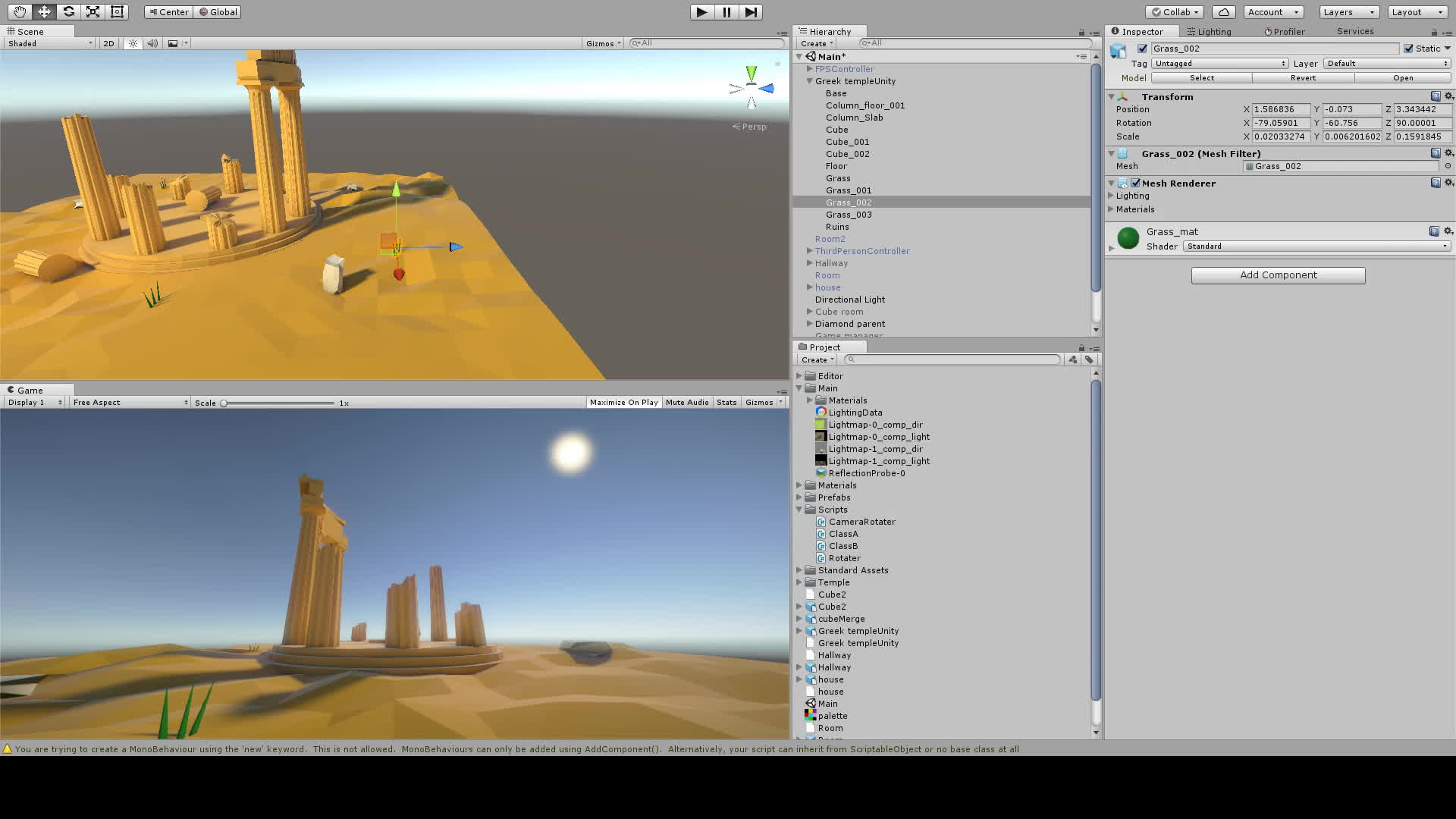 gamedevscreens, low_poly, unity3d, Unity Low poly Lighting GIFs