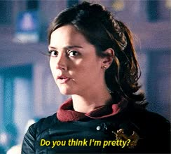 imagine Jenna Coleman asking u this right after finishing on her pretty face