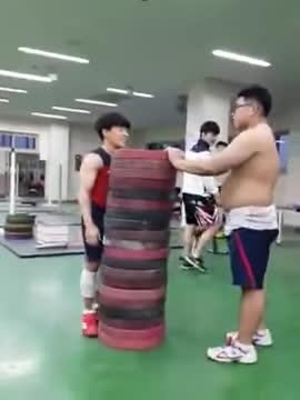 fitness, weightlifting, workout, Korean Weightlifting Team Box Jump GIFs