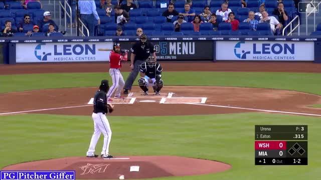 Watch Jose Urena FT/SL/CH GIF by Pitcher Giffer (@augustine_mlb) on Gfycat. Discover more Jose Urena, MLB, Marlins, Miami Marlins, Washington Nationals, baseball, sports GIFs on Gfycat
