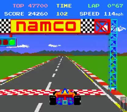 Watch and share Arcade Game: Pole Position (1982 Namco/Atari) GIFs on Gfycat