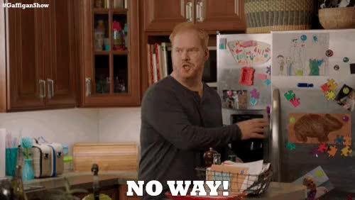 Watch and share Jim Gaffigan GIFs and No Way GIFs on Gfycat