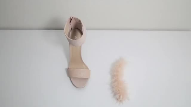 DIY: Faux Fur Feather Heels (EASY)